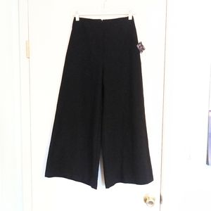 Nasty Gal Black Wide Leg Hi Rise Flowy Pants